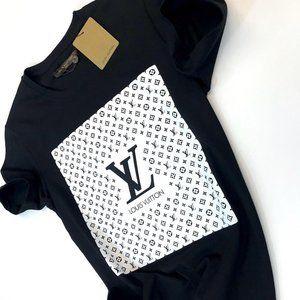 Louis Vuitton men short sleeve black shirt